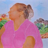 Vendedora de frutas 2005 Acrílico / tela 91 cm x 116 cm