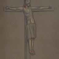 La Crucifixión 1997 Pastel / papel 61.2 cm x 52 cm