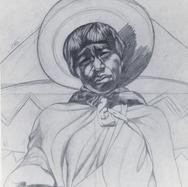 Niño huichol 1937 Lápiz / papel 52 cm x 46.5 cm