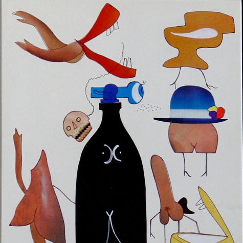 Los pretextos de la risa 1985 Collage / papel 55 cm x 46.7 cm
