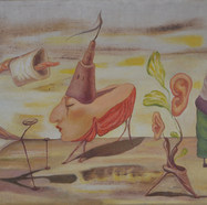 Autorretrato 1980 Acrílico / masonite 57 cm x 90 cm