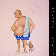 """Munguía Larios. """"Me oculto tras estos lentes, de miradas imprudentes"""" 1966 Gouache / papel 48.7 cm x 37.3 cm"""