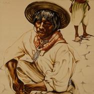 Huichol sentado 1938 Gouache / papel Desconocidas