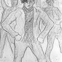 Rebeldía 1987 Lápiz / papel 47 cm x 30.5 cm