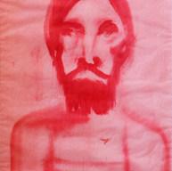 Cristo en rojo 1978 Óleo / papel  68 cm x 55 cm