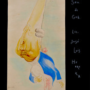 El Srio. de Gob. Lic. José Luis Herrera 1945 Acuarela / papel 61.5 cm x 32 cm