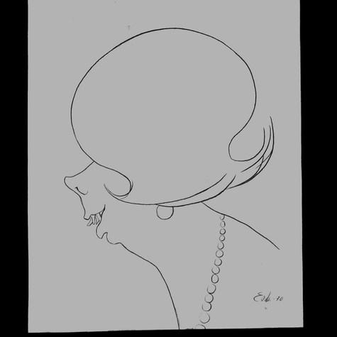 """Lucy Gómez. """"Algunos buenos partidos"""" 1970 Lápiz / papel 40.6 cm x 32.5 cm"""