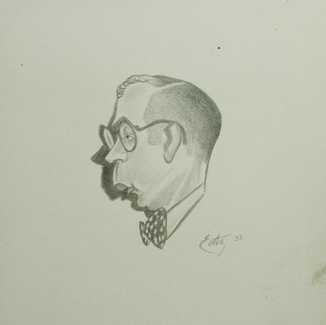 Pepito Ruvalcaba, Actual Pte. Mpal. de Túxpan. Es muy simpático y anticuario  1933 Lápiz / papel 32.5 cm x 25 cm