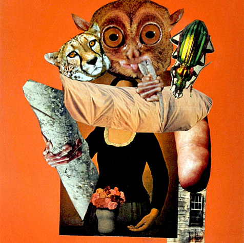 Retrato de mujer virtuosa 1990 Collage / papel 65.7 cm x 50.4 cm