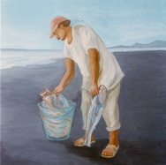 Pescador en Miramar 2002 Acrílico / papel 60 cm x 48.5 cm