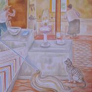 Interior de la casa de Miramar 1998 Acrílico / tela 110 cm x 89 cm