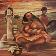 Día de muertos 1943 Óleo / fibracel 86 x 122 cm