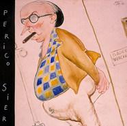 """Pedro Sierra. """"Antes fue Pedro después fue don Pedro"""" 1946 Acuarela / papel 87.6 cm x 65 cm"""