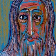Cristo en azul 1988 Acrílico / papel 65.6 cm x 51 cm