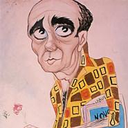 """El maestro Castilla. """"Teatrista de corazón y en los dedos un botón…"""" 1958 Mixta / papel 88 cm x 54.5 cm"""