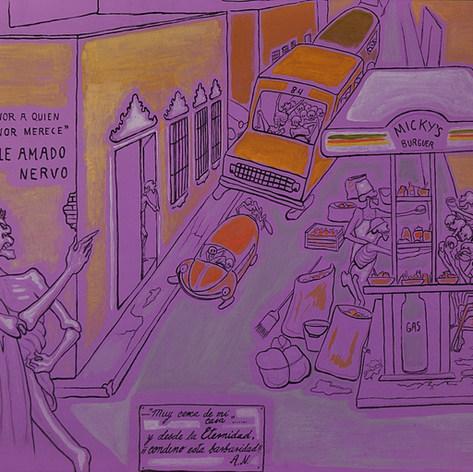 Honor a quien honor merece 1996 Acrílico / papel 67.5 cm x 81.2 cm
