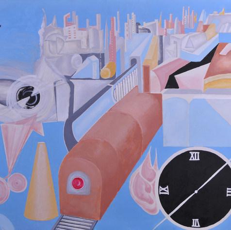 Serie de ciudades perdidas  2006 Acrílico / tela 71 cm x 90 cm
