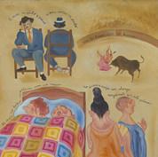 Al mas no haber, acostarse con su mujer 1996 Óleo / tela 90 cm x 80 cm