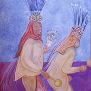La danza de la urraca s/f Acrílico / tela 128 cm x 96 cm