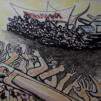 Mártir de la lucha 1980 Mixta / madera 76 cm x 102 cm