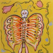Mariposa 2000 Acrílico / papel 81 cm x 66.5 cm