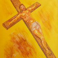 El mártir de Gólgota 2002 Óleo / papel 61.2 cm x 52 cm