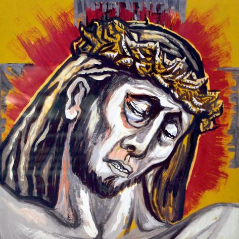 Cristo coronado de espinas s/f Acrílico / papel 69.1 cm x 56.7 cm