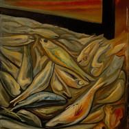 Buena pesca 1960 Óleo / tela 74 cm x 59 cm