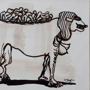 La perra suerte 1982 Tinta / papel 21.4 cm x 28.7 cm