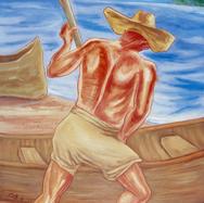 Pescador de Miramar 1988 Acrílico / tela 125 cm x 93 cm