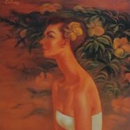Retrato de Delia Pantoja s/f Óleo / fibracel 122 cm x 77 cm
