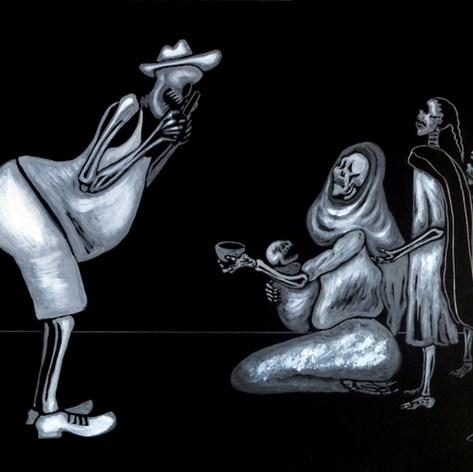 Calaveras de la calle 1995 Acrílico / papel 75 cm x 60 cm
