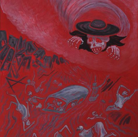 El huracán Paulina nos deja en ruina 1997 Acrílico / cartón 112 cm x 86.5 cm