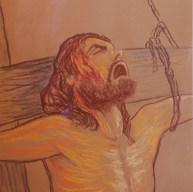 Jesús atormentando 1997 Pastel / papel 65.2 cm x 51 cm