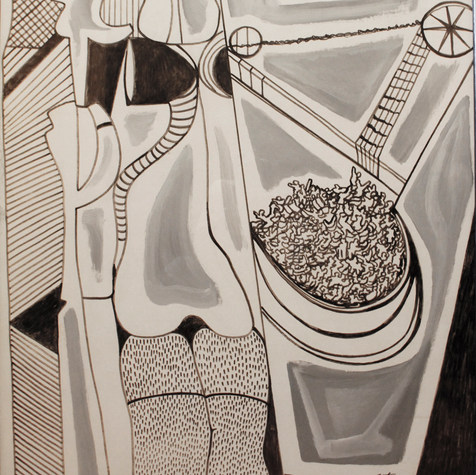 Arenga empresarial 1994 Acrílico y plumón / cartón  79.5 cm x 105.2 cm