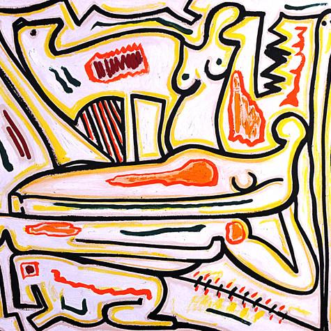 Pareja soñando 1989 Óleo / tela 69.2 cm x 83.7 cm