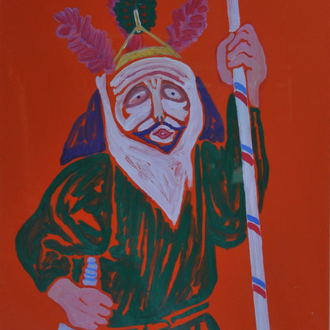 Judea, Jala I 1991 Acrílico / papel  86.5 cm x 79.8 cm