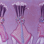 Danza de la Urraca 1998 Pastel al óleo / papel 36.5 cm x 49.5 cm