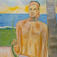 La iguana perpleja 1992 Acrílico / tela 130 cm x 106 cm