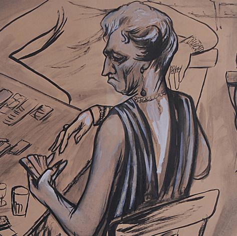 Jugadoras de cartas 1956 Tinta y gouache / papel 51 cm x 66 cm
