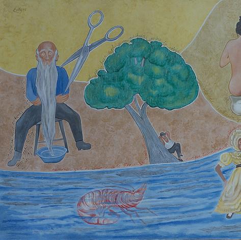 Al que a buen árbol se arrima... 1993 Acrílico / tela 120 cm x 150 cm