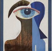 La mirada azul 1983 Collage / papel 40.4 cm x 32.2 cm