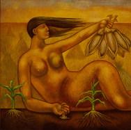 Chicomecoatl 1953 Óleo / fibracel 122 cm x 182 cm