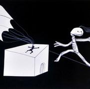 Accidente 1966 Lápiz y recortes de papel / cartón 61.5 cm x 77 cm