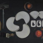 Bajo el signo de la suástica 1985 Collage / cartón 52.9 cmx 68.5 cm