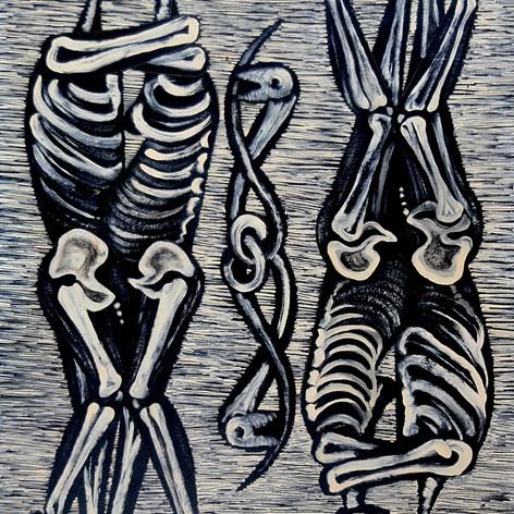 Después del Edén s/f Pintura esmalte / madera 98.3 cm x 72.2 cm
