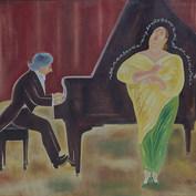Tu cantarás muy bonito pero a mi no me diviertes 1990 Óleo / tela 96 cm x 128 cm