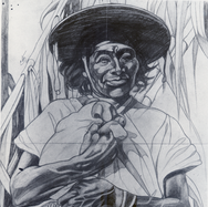 Huichol con pañuelo 1937 Lápiz / papel 58.5 cm x 44.5 cm