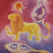 No es tan fiero el león como lo pintan 1996 Óleo / tela 90 cm x 80 cm