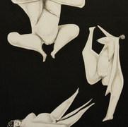 Gimnasia matutina 1994 Lápiz y recortes de papel / cartón 59.2 cmx 73.2 cm
